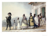 A Government Employee Leaving Home with His Family and Servants Giclee Print by Jean Baptiste Debret