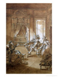 "I Am Going to Kill Him, Scene from Act II of ""The Marriage of Figaro"" 1785 Giclee Print by Jacques Philippe Joseph Saint-Quentin"