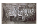 An Evening Wedding Meal Giclee Print by Jacques Bertaux