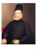 Portrait of Philip II circa 1580 Giclee Print by Alonso Sanchez Coello