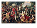 David and Abigail or Alexander and the Family of Darius Giclee Print by Maarten de Vos