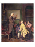 A Lesson with Abbe Charles Michel de L'Epee after a Painting by F. Peyson Giclee Print by N. Ginouvier