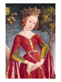 St. George and the Dragon, Detail of the Princess, circa 1445-50 Giclee Print by Jost Haller