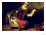 The Holy Family, circa 1645 Giclee Print by Rembrandt van Rijn 