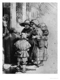 Beggars on the Doorstep of a House, 1648 Giclee Print by  Rembrandt van Rijn