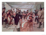 Scandinavian Artist's Luncheon at Cafe Ledoyen on Varnishing Day, 1886 Giclee Print by Hugo Birger