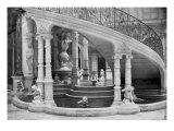 Fountain Under the Stairs of the Hotel de Ville Before the Fire of 1871 Giclee Print by Charles Marville