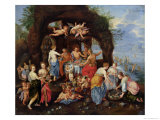 The Feast of the Gods Gicl&#233;e-Druck von Jan Van Kessel