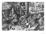The Alchemist at Work Lmina gicle por Pieter Bruegel the Elder