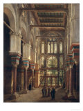 Interior of the Mosque of El Mooristan in Cairo Giclee Print by Adrien Dauzats