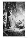 The Great Raising of Lazarus Premium Giclee Print by  Rembrandt van Rijn