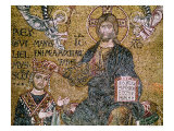 William II King of Sicily Receiving a Crown from Christ Giclee Print