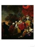 Zerubbabel Showing a Plan of Jerusalem to Cyrus Giclee Print by Jacob van Loo