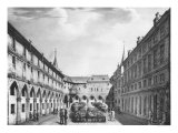 View of the Men's Yard at the Conciergerie Prison circa 1831 Giclee Print by Collard