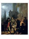 Revolutionary Scene: a Bivouac Giclee Print by Nicolas Antoine Taunay