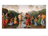 The Baptism of Christ, from the Convent of San Pietro, Perugia, 1496-98 Giclee Print by Pietro Perugino
