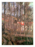 The Cote des Boeufs at L'Hermitage, Pontoise, 1877 Giclee Print by Camille Pissarro