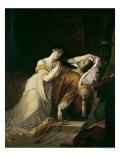 Joanna the Mad with Philip I the Handsome Giclee Print by Louis Gallait