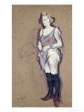 The Medical Inspection: Blonde Prostitute, 1894 Lámina giclée por Henri de Toulouse-Lautrec