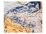 Map of Central Europe, 1486 (Coloured Engraving) (Details of 157909) Giclee Print by  Ptolemy