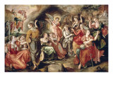 The Wise and the Foolish Virgins Reproduction procédé giclée par Maarten de Vos