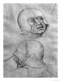 Two Heads of Soldiers Wearing Helmets Giclee Print by Antonio Pisani Pisanello