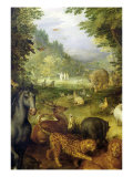 Earth, or the Earthly Paradise, Detail of Animals, 1607-08 Giclee Print by Jan Brueghel the Elder