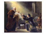 Elijah Resuscitating the Son of the Widow of Sarepta Giclee Print by Louis Hersent