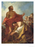St. John the Baptist Baptising the Jews in the Desert, 1743 Giclee Print by Jean Baptiste Marie Pierre