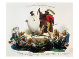 "Hernani Sublime, a Romantic Dish"", Caricature of Hernani"" by Victor Hugo circa 1830 Giclee Print by  Langlume"