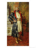 Portrait of Feodor Chaliapin as Boris Godunov 1916 Giclee Print by Nikolay Vassilyevich Kharitonov