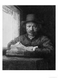 Self Portrait While Drawing, 1648 Giclee Print by  Rembrandt van Rijn