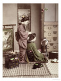 Hairdressing, Japan, circa 1880 Giclee Print by Kusakabe Kimbei