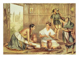 "Indians Preparing Tortillas, from ""An Album of the Mexican Republic"" Giclee Print by Julio Michaud"
