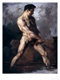 Study of a Male Nude Giclee Print by Th&#233;odore G&#233;ricault