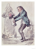 Toujours Bonne!, a Maid Handing a Man His Illegitimate Child Giclee Print by Nadar 