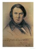 Robert Schumann 1853 Giclee Print by Joseph Bonaventure Laurens