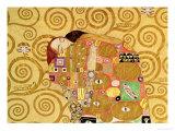 Fulfillment, Stoclet Frieze, c.1909 (detail) Giclée-tryk af Gustav Klimt