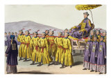 Emperor Ch'Ien Lung Carried in Triumph Giclee Print by Gaetano Zancon