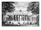 The Brandenburg Gate in Berlin, Mid 19th Century Giclee Print by  German School