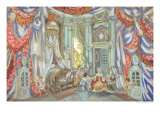 """Stage Design for Beaumarchais"""" """"Marriage of Figaro"""", 1915 Giclee Print by Sergei Yurevich Sudeikin"""