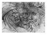 Heads of Three Men Giclee Print by Antonio Pisani Pisanello