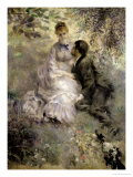 The Lovers, circa 1875 Giclee Print by Pierre-Auguste Renoir