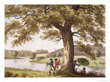 Humphrey Repton Surveying with a Theodolite Giclee Print by Humphry Repton