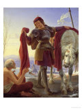 St. Martin and the Beggar, 1836 Giclee Print by Alfred Rethel