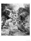 The Sacrifice of Abraham, 1645 Premium Giclee Print by  Rembrandt van Rijn
