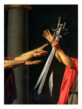 The Oath of Horatii, 1784 Giclee Print by Jacques-Louis David