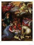 Adoration of the Shepherds, 1612 Lámina giclée por Abraham Bloemaert