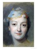 Portrait of Marie Fel 1757 Giclee Print by Maurice Quentin de La Tour