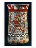 Vase Depicting a Farming Scene Giclee Print by Nazca Culture